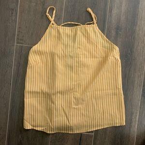 New yellow striped summer tank top